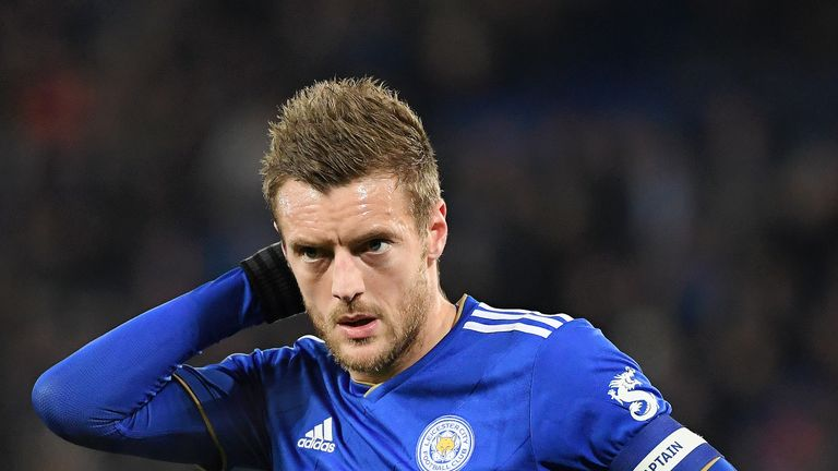 Jamie Vardy will miss the visit of Tottenham on Saturday with a groin injury