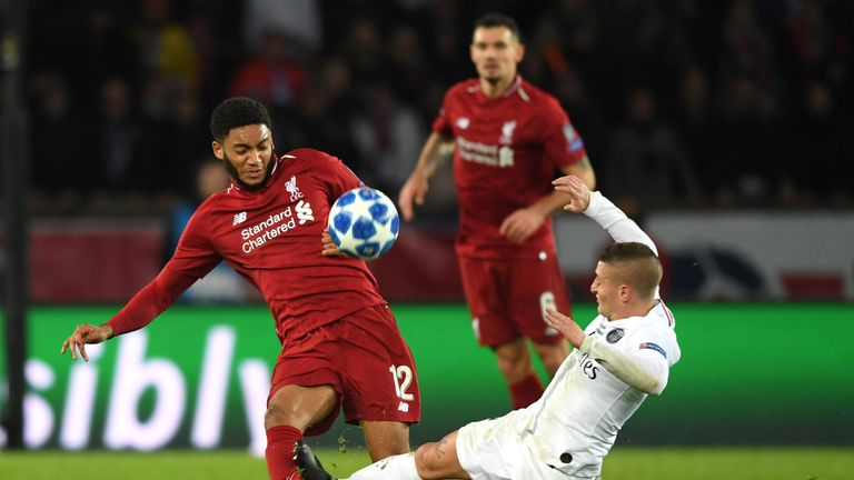 Marco Verratti was only booked for this challenge on Joe Gomez