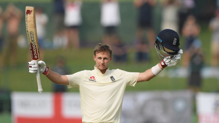 Joe Root during Day Three of the Second Test match between Sri Lanka and England at Pallekele Cricket Stadium on November 16, 2018 in Kandy, Sri Lanka