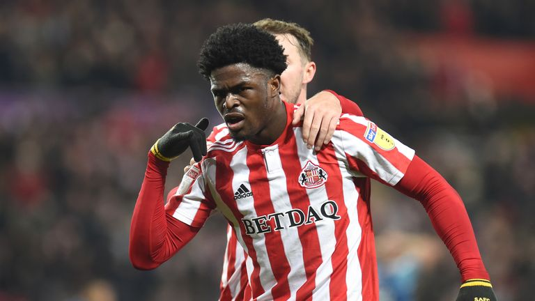 Josh Maja scored 17 goals in 49 appearances for Sunderland, having come through their academy