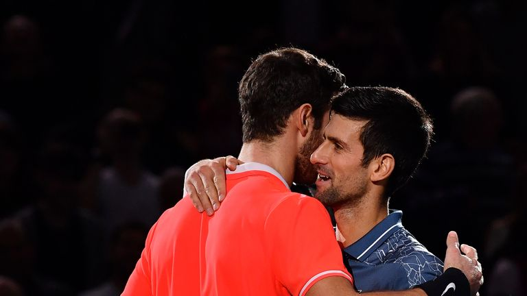 Djokovic was full of praise for Khachanov's performance at the end of the match