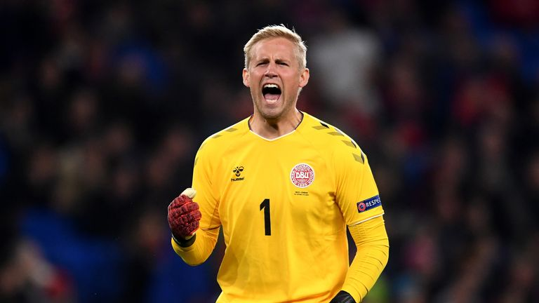 Kasper Schmeichel is vice-captain of Denmark