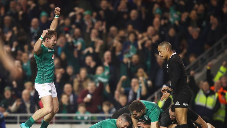 Ireland thought they had the opening score through Rob Kearney, but it was ruled out by the TMO