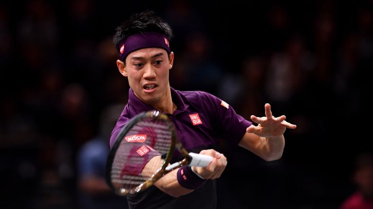 Federer falls out as Nishikori succeeds
