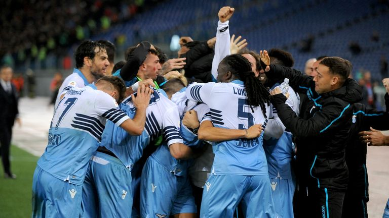 Joaquin Correa scored deep into stoppage time to snatch Lazio a point from a 1-1 draw with AC Milan