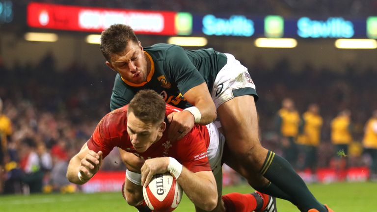Liam Williams was among the try scorers as Wales beat South Africa in Cardiff on Saturday