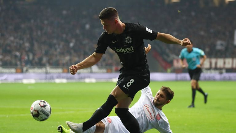 Jovic is currently on loan from Benfica