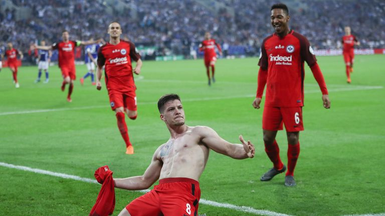 Luka Jovic is reportedly being pursued by Barcelona