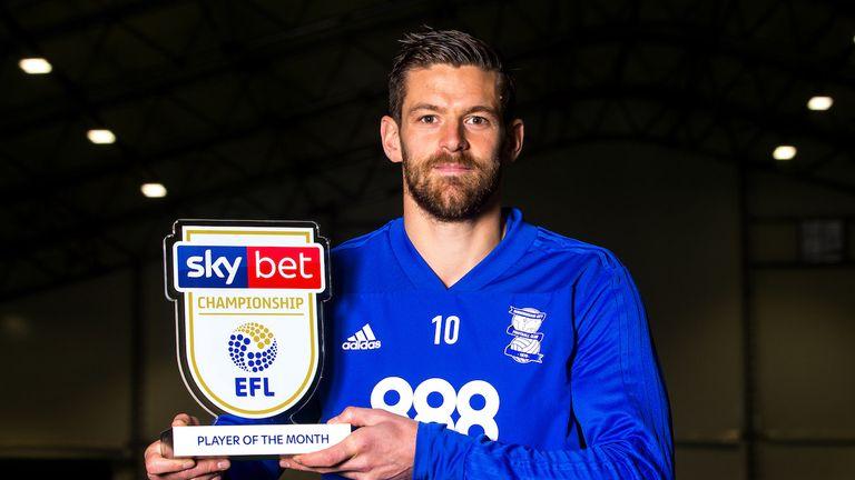 of Birmingham City wins the Sky Bet Championship Player of the Month award - Mandatory by-line: Robbie Stephenson/JMP - 07/11/2018 - FOOTBALL - Birmingham City Training Ground - Birmingham, England - Sky Bet Player of the Month Award