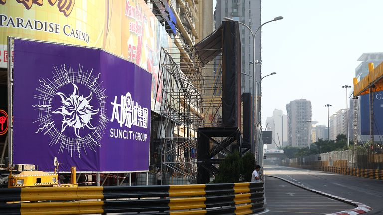 The incident occurred on the fourth lap of the Macau Grand Prix