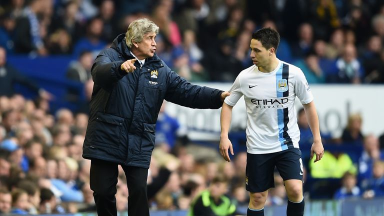 Samir Nasri played under Manuel Pellegrini at Manchester City