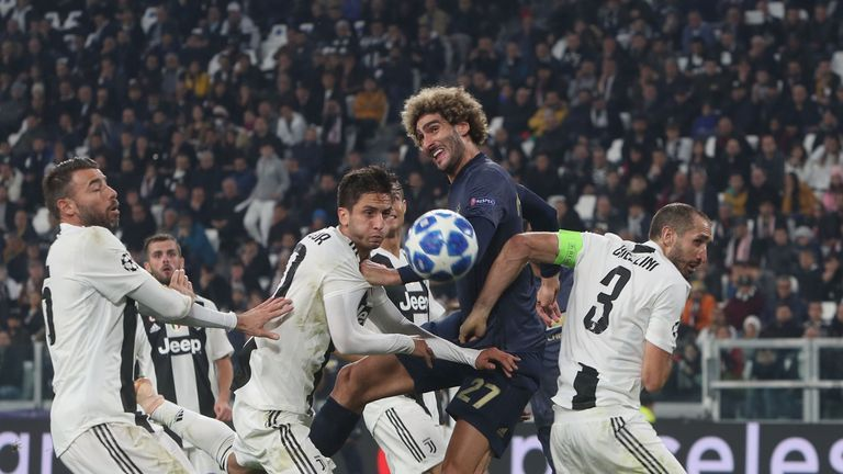 Fellaini caused Juventus problems for the winner