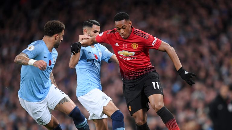 Anthony Martial played and scored in the Manchester derby on Sunday