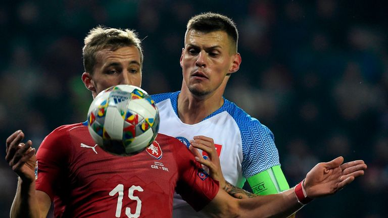 Martin Skrtel couldn't prevent Slovakia's relegation