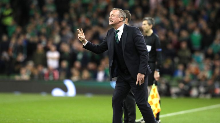 Michael O'Neill gets his message across in Northern Ireland's friendly in Dublin