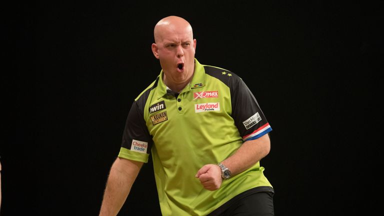 Michael van Gerwen will play Gary Anderson in the Grand Slam of Darts semi-final