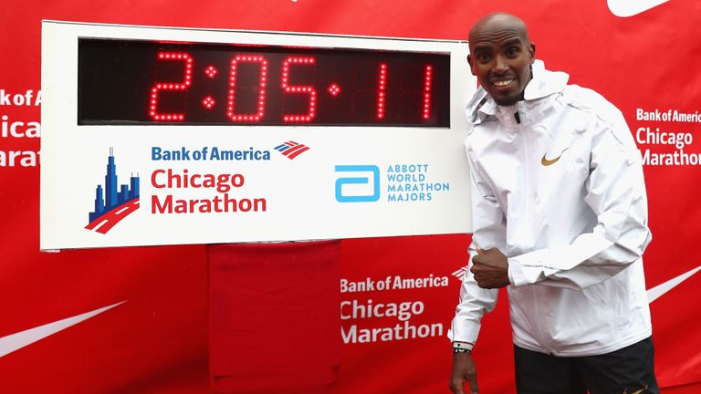 Farah broke the European marathon record in Chicago last year