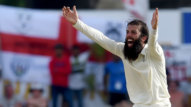 Moeen Ali is the eighth England spinner to take 150 Test wickets
