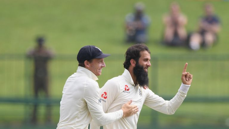 Moeen Ali during Day Five of the Second Test match between Sri Lanka and England at Pallekele Cricket Stadium on November 18, 2018 in Kandy, Sri Lanka.