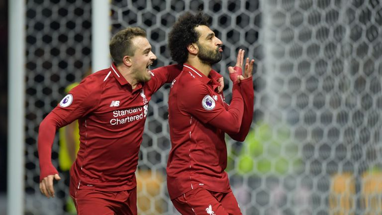 Mohamed Salah scored his sixth goal in three games against Watford