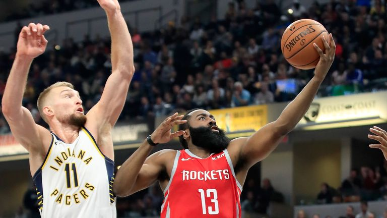 pacers rockets nba