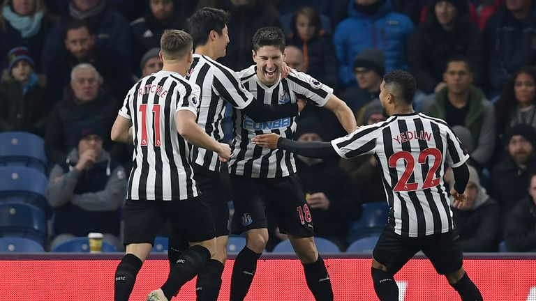 Federico Fernandez's shot deflected in off Ben Mee as Newcastle took an early lead