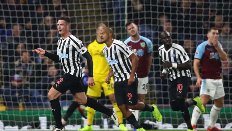 Newcastle secured a third straight league win with a 2-1 victory at Burnley