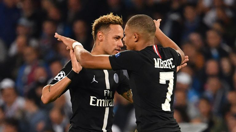 Neymar and Kylian Mbappe have been linked with Real Madrid