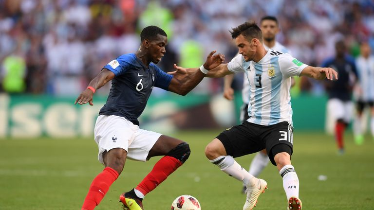 Tagliafico played all but 10 minutes of Argentina's World Cup campaign