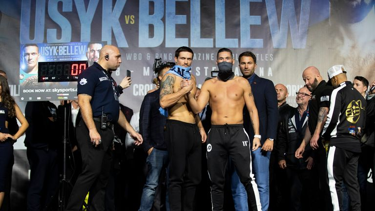 Usyk vs Bellew: Talking points from weigh-in as Oleksandr Usyk and Tony Bellew unleashed physiques | Boxing News |