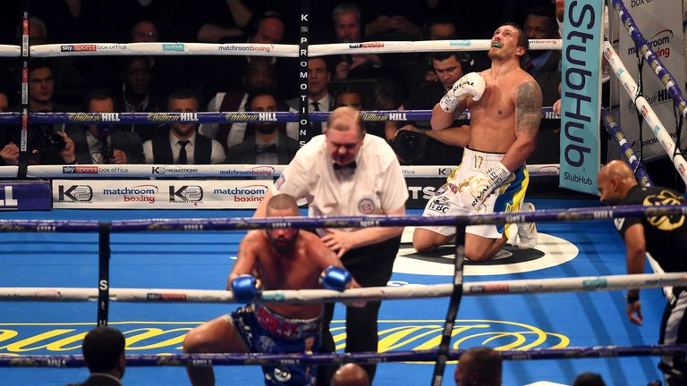 Bellew lost his cruiserweight unification battle with Usyk at Manchester Arena on November 10