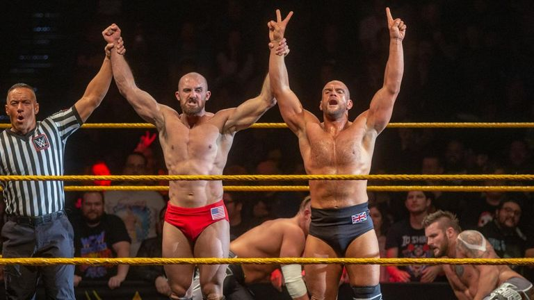 Oney Lorcan and his British partner Danny Burch secured a big win over The Mighty on NXT