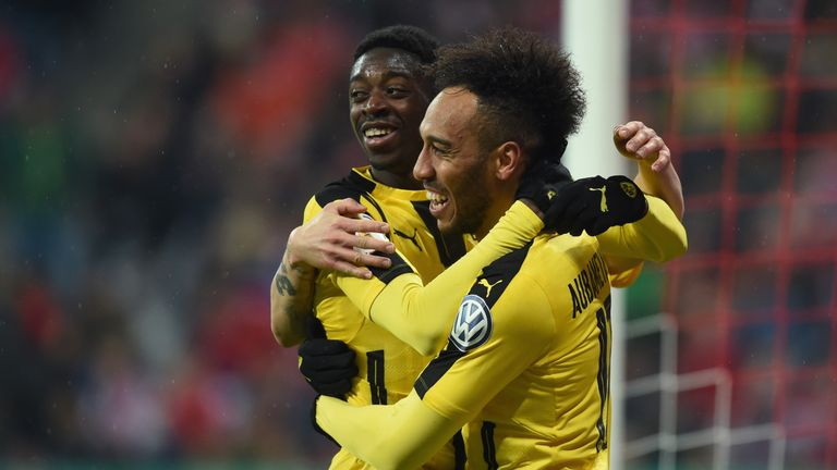 Dembele played with Pierre-Emerick Aubameyang at Borussia Dortmund