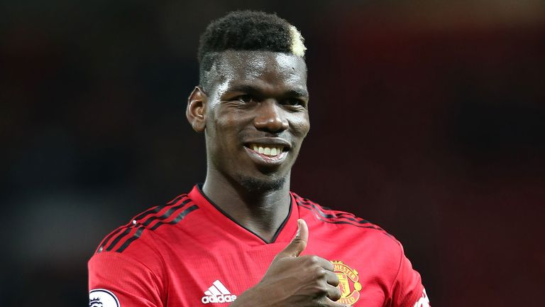 Paul Pogba of Manchester United walks off after the Premier League match between Manchester United and Everton FC at Old Trafford on October 28, 2018 in Manchester, United Kingdom.