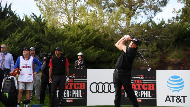 Mickelson missed two putts for the match before holing from four feet to win $9m