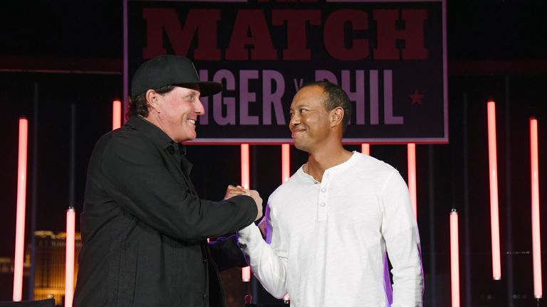Woods lost to Phil Mickelson in The Match in Las Vegas on Friday