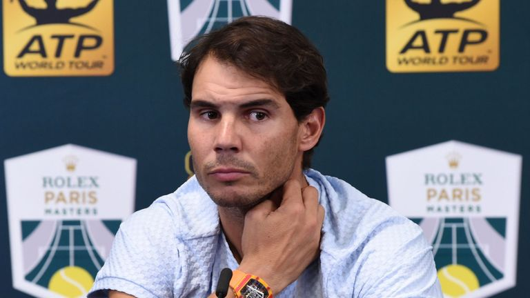 Rafael Nadal has withdrawn from the ATP Finals hours before Monday's draw