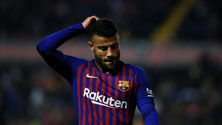 Barcelona's Rafinha out long-term with knee ligament injury, Sergi Roberto could miss a month   Football News  