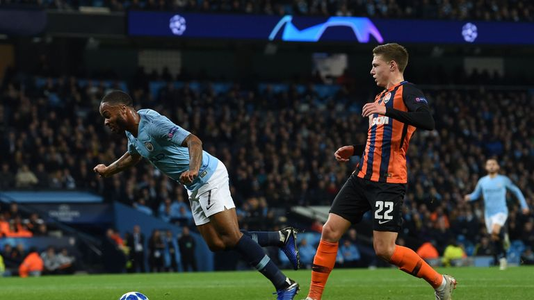 Raheem Sterling kicked the ground and tripped himself, but the referee awarded Manchester City a penalty