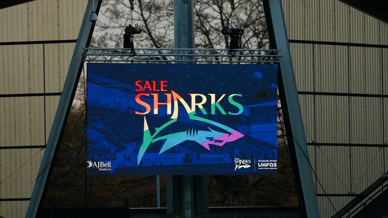 Sale Sharks unveiled Rainbow Laces branding at the AJ Bell Stadium ahead of the clash with Northampton Saints
