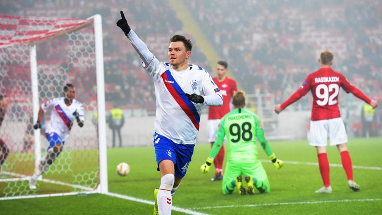 Glenn Middleton gave Rangers the lead for the third time in Russia - but they could not hold on