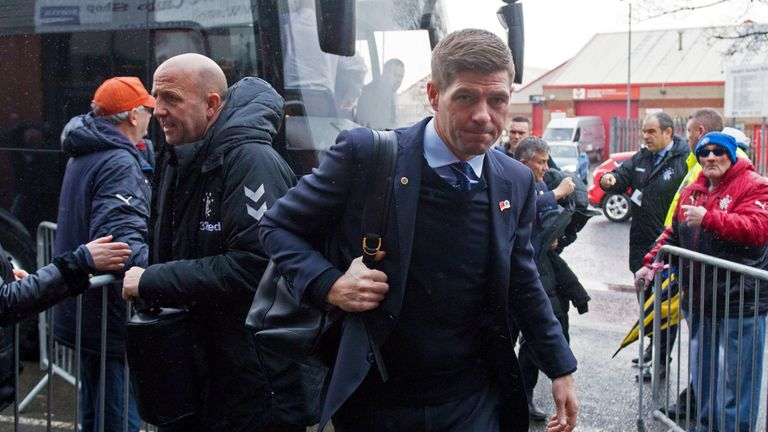 Steven Gerrard will take his team to Fife to play Cowdenbeath