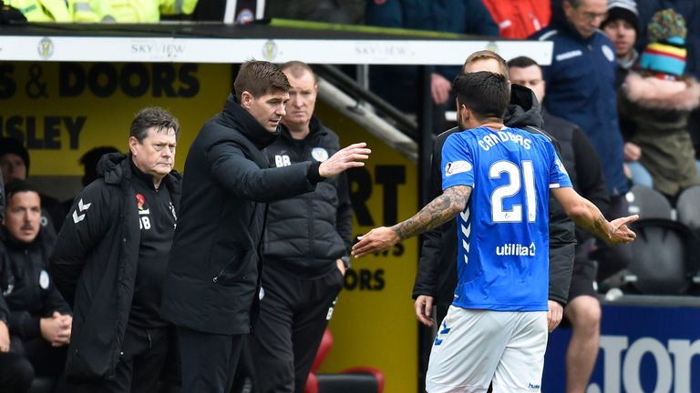 Candeias was sent off late in the game