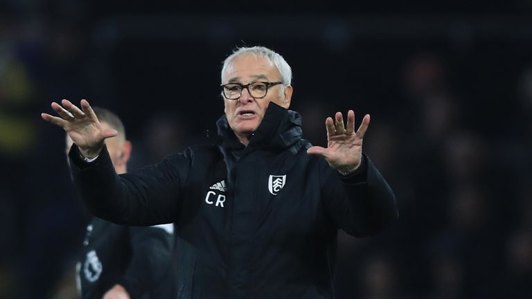 Claudio Ranieri takes Fulham to his former club Chelsea on Sunday