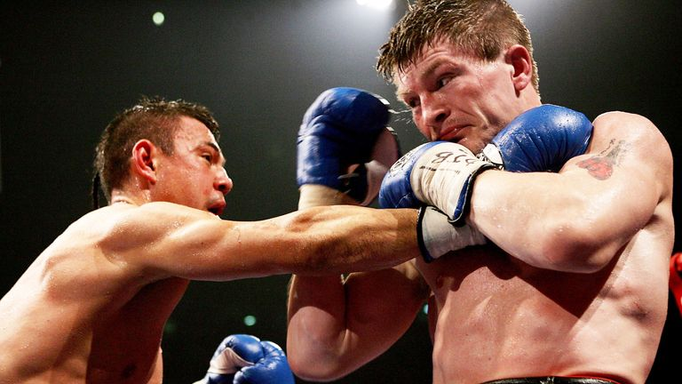 Ricky Hatton halted Kostya Tszyu after a gruelling battle at Manchester Arena