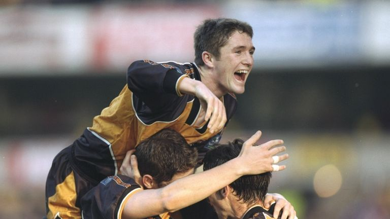 Keane scored two goals on his Premier League debut with Wolves in 1997