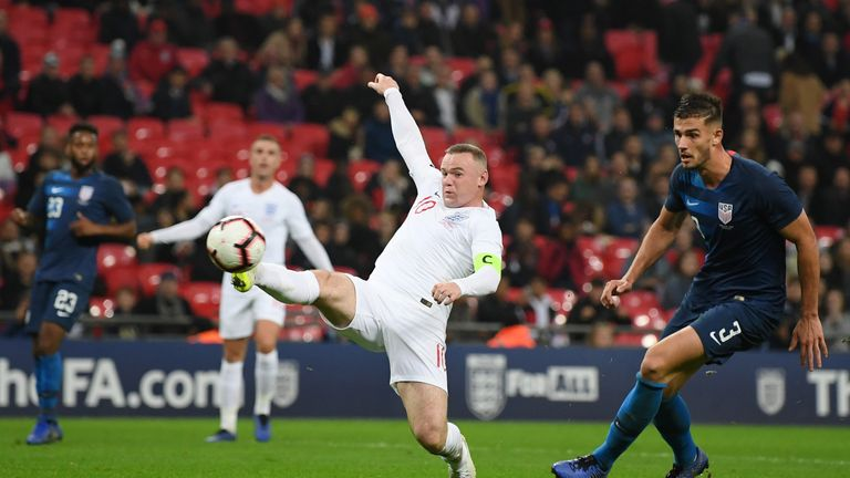 Rooney almost turned in Jadon Sancho's cross in injury time