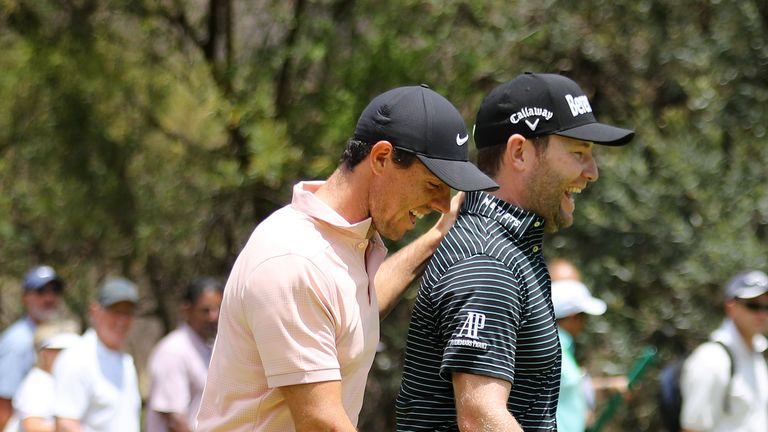 McIlroy had been playing in the same group as Grace