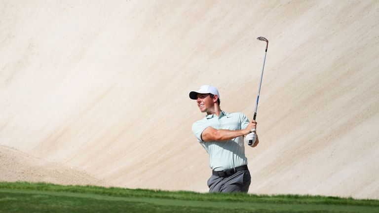 Rory McIlroy is three shots off the lead after the opening round