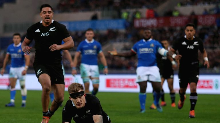 Damian McKenzie scored a hat-trick in Rome